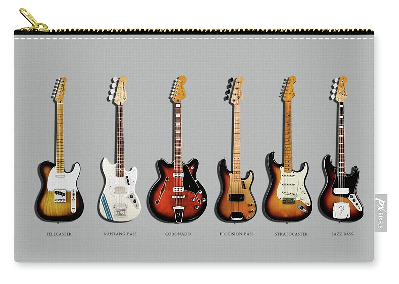 Fender Stratocaster Carry-all Pouch featuring the photograph Fender Guitar Collection by Mark Rogan