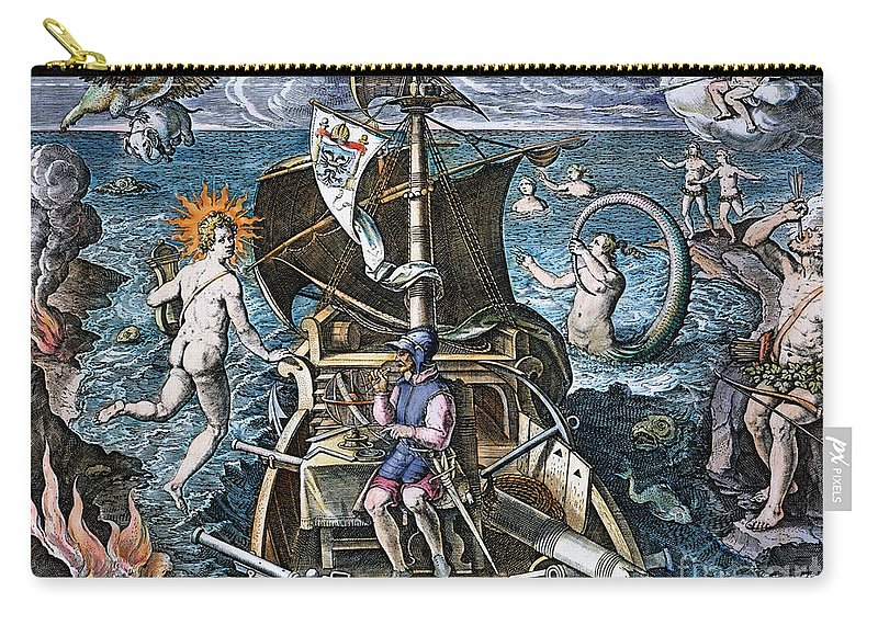 1520 Carry-all Pouch featuring the photograph Ferdinand Magellan by Granger
