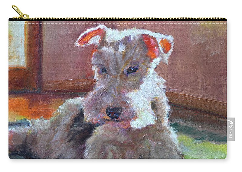 Pet Carry-all Pouch featuring the painting Fergie by Keith Burgess