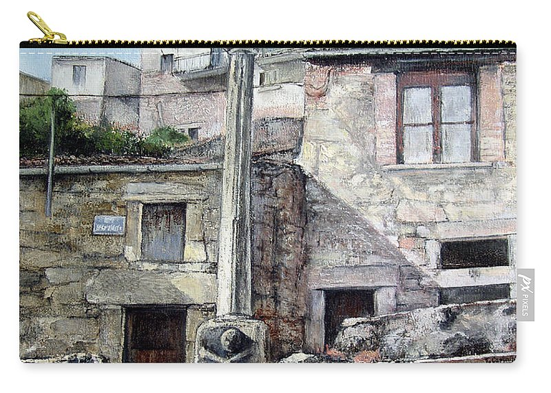 Fermoselle Carry-all Pouch featuring the painting Fermoselle.-crucero by Tomas Castano