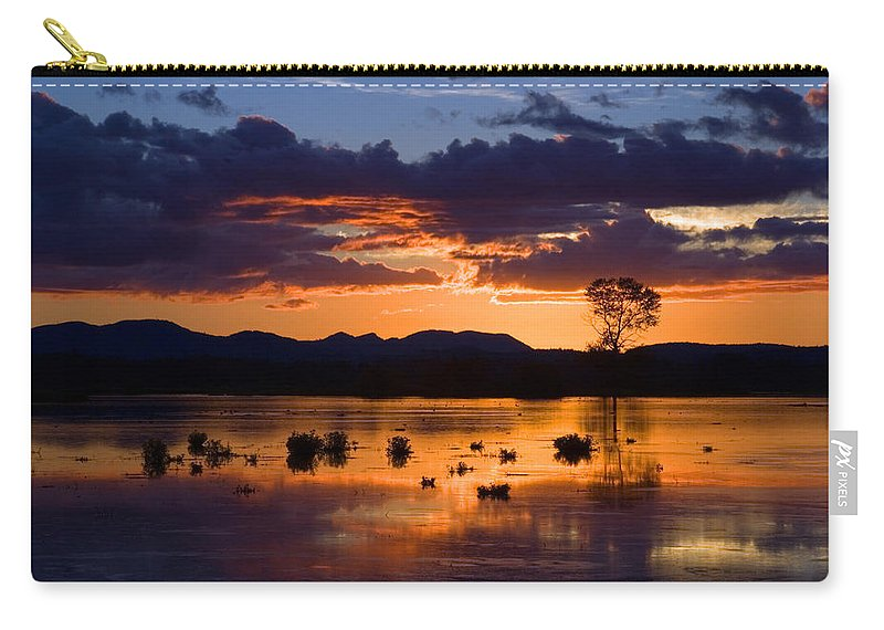 Color Carry-all Pouch featuring the photograph Fern Ridge Sunset by Randall Ingalls