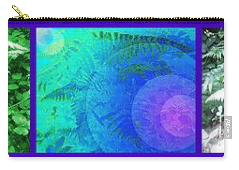 Fern Carry-all Pouch featuring the photograph Fern Strip 5 Blue Green by Julia Woodman