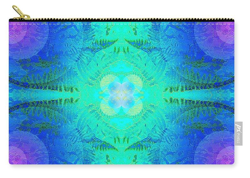 Fern Carry-all Pouch featuring the photograph Ferns 2j Hotwax 3 Fractal by Julia Woodman