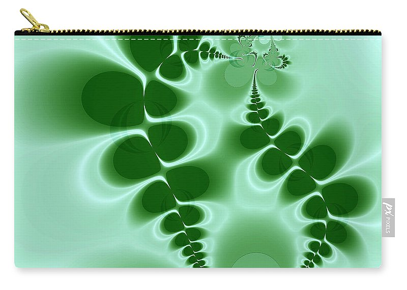 Digital Art Carry-all Pouch featuring the digital art Ferns by Amanda Moore