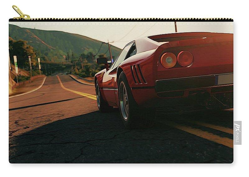 Ferrari Carry-all Pouch featuring the photograph Ferrari 288 Gto At Sunset - 5 by Andrea Mazzocchetti