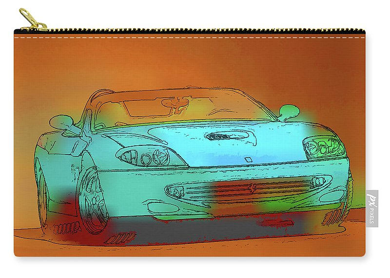 Ferrari Carry-all Pouch featuring the painting Ferrari 3 by Jeelan Clark
