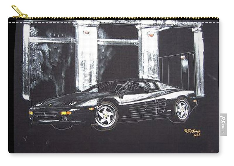 348 Gtr Testarrossa Carry-all Pouch featuring the painting Ferrari 348 Gtr Testarrossa by Richard Le Page