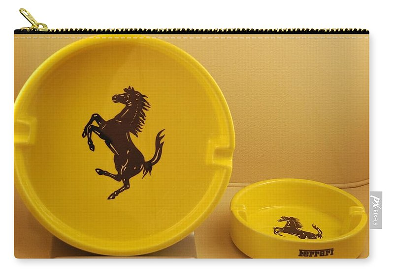 Stallion Carry-all Pouch featuring the photograph Ferrari Ash Catchers by Rob Hans