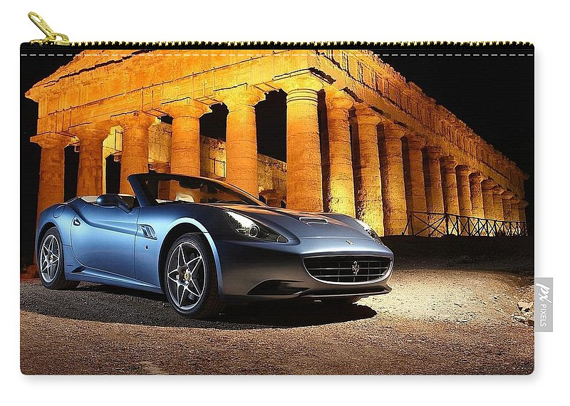 Ferrari California Carry-all Pouch featuring the photograph Ferrari California by Jackie Russo