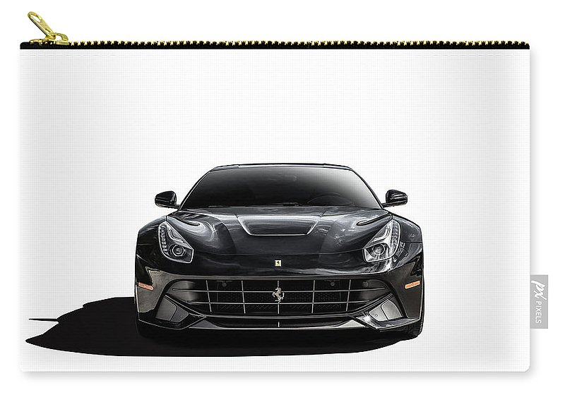 Black Carry-all Pouch featuring the digital art Ferrari F12 Berlinetta by Douglas Pittman