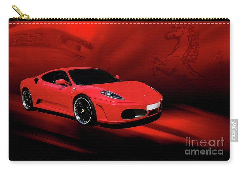 Ferrari Carry-all Pouch featuring the photograph Ferrari F430 by Joel Witmeyer