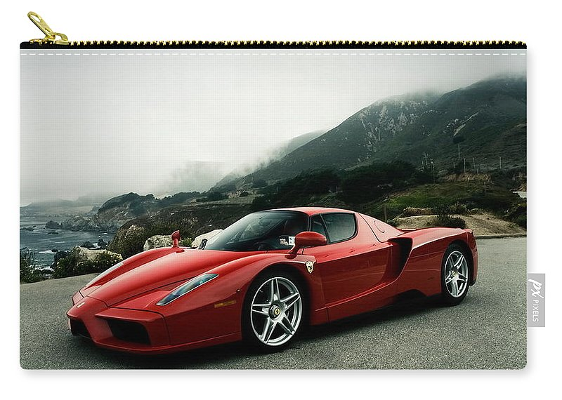 Ferrari Carry-all Pouch featuring the photograph Ferrari by Jackie Russo