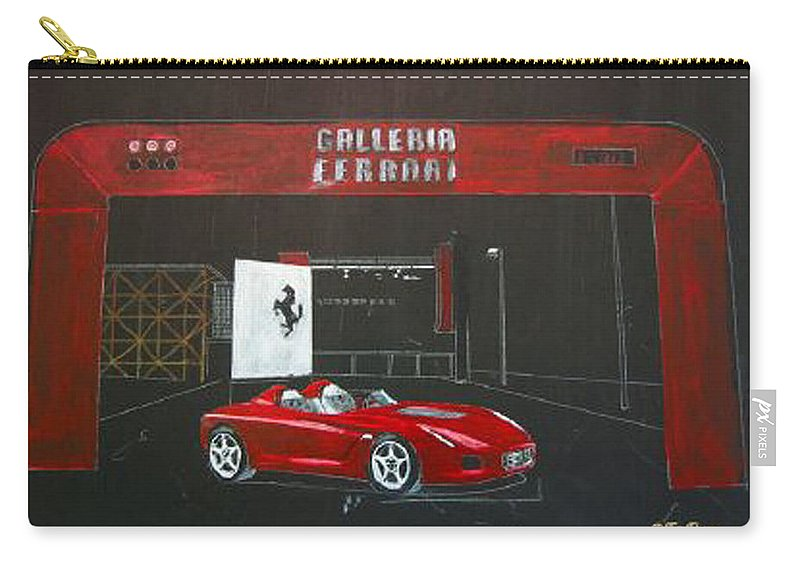 Car Carry-all Pouch featuring the painting Ferrari Pininfarina Rossa Concept by Richard Le Page