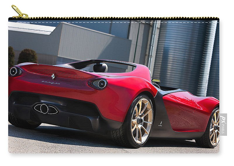 Ferrari Sergio Carry-all Pouch featuring the photograph Ferrari Sergio by Jackie Russo