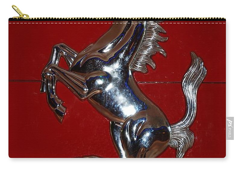 Pop Art Carry-all Pouch featuring the photograph Ferrari Stallion by Rob Hans