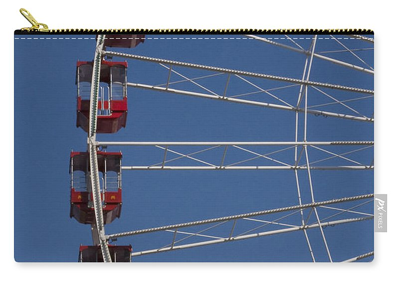 Chicago Windy City Ferris Wheel Tourist Tourism Travel Attraction Carry-all Pouch featuring the photograph Ferris Wheel by Andrei Shliakhau
