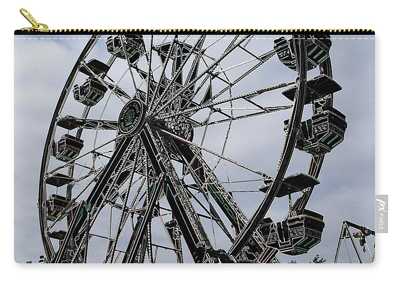 Ferris Wheel Carry-all Pouch featuring the digital art Ferris Wheel by Ron Bissett