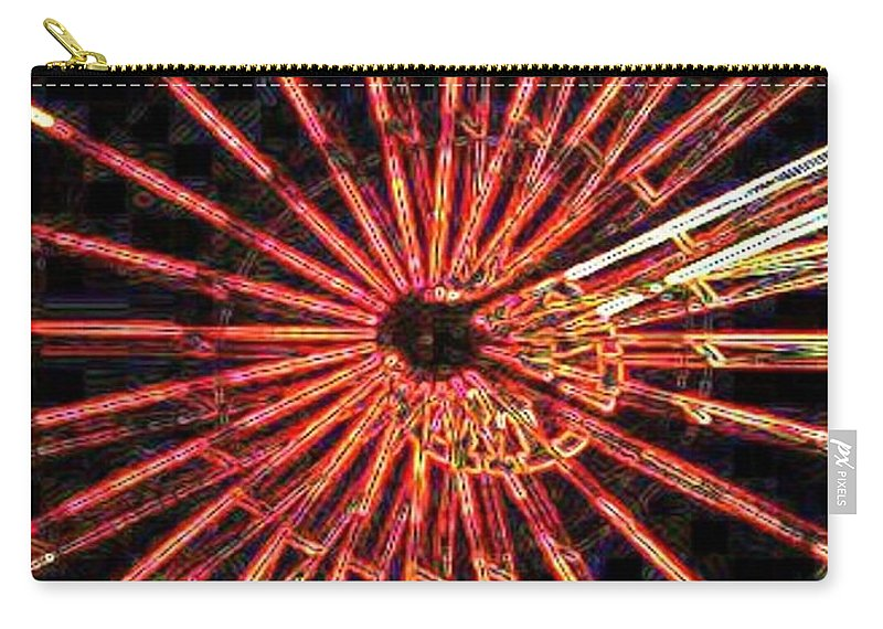 Ferris Wheel Carry-all Pouch featuring the digital art Ferris Wheel by Tim Allen