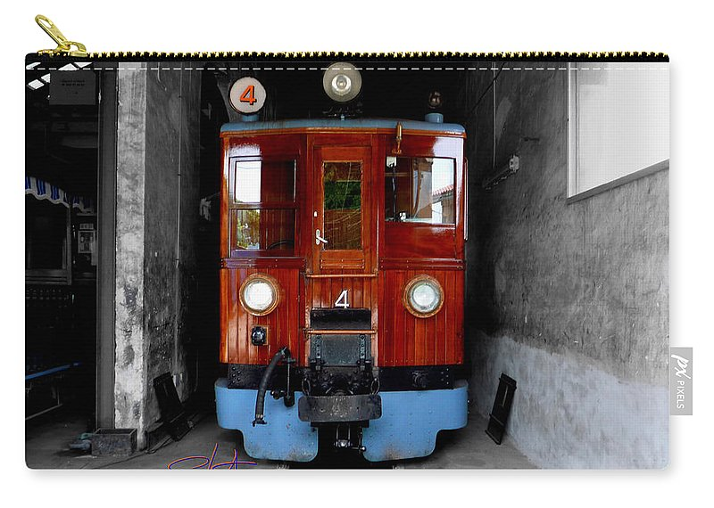 Train Carry-all Pouch featuring the photograph Ferrocarrril De Soller by Charles Stuart