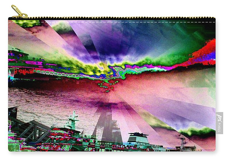 Seattle Carry-all Pouch featuring the digital art Ferry Illusion by Tim Allen