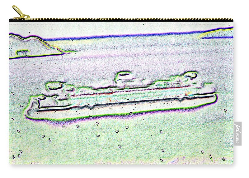 Seattle Carry-all Pouch featuring the photograph Ferry In The Rain by Tim Allen