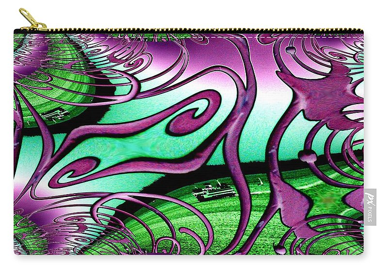 Seattle Carry-all Pouch featuring the digital art Ferry On Elliott Bay 2 by Tim Allen