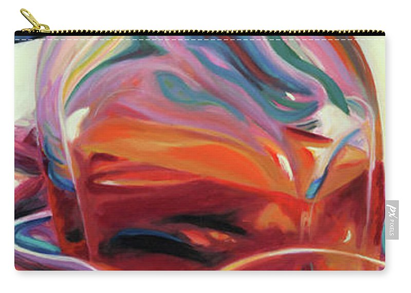 Glass Carry-all Pouch featuring the painting Fervor by Trina Teele