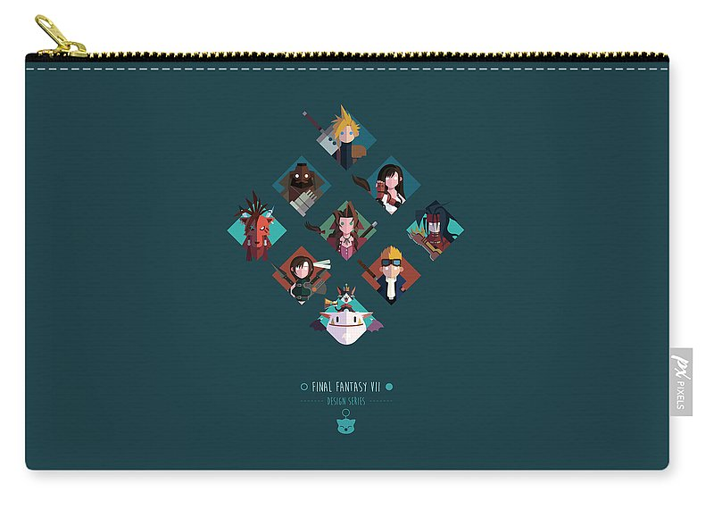 Final Fantasy Carry-all Pouch featuring the digital art FF Design Series by Michael Myers