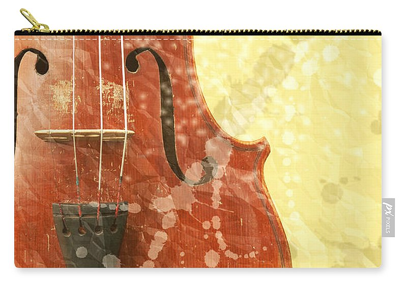 Fiddle Carry-all Pouch featuring the photograph Fiddle by Michal Boubin