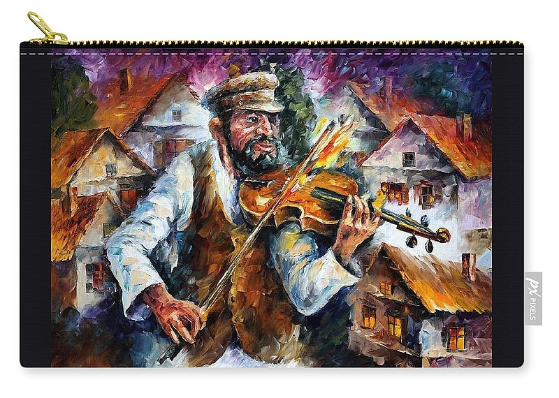 Judiac Carry-all Pouch featuring the painting Fiddler From The Sky by Leonid Afremov