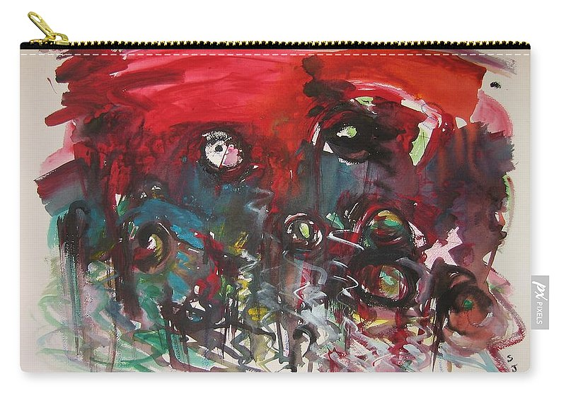 Fiddleheads Paintings Carry-all Pouch featuring the painting Fiddlesheads108 by Seon-Jeong Kim