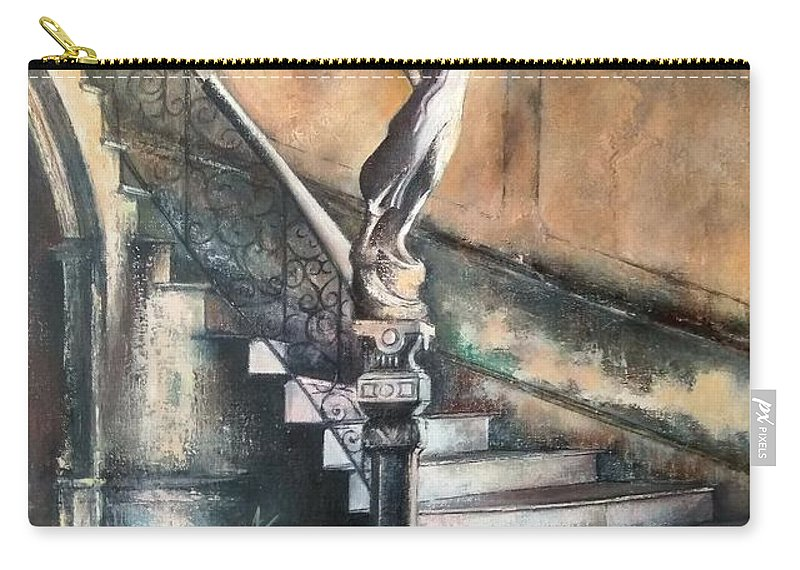 Old Havana Carry-all Pouch featuring the painting Fidel by Tomas Castano