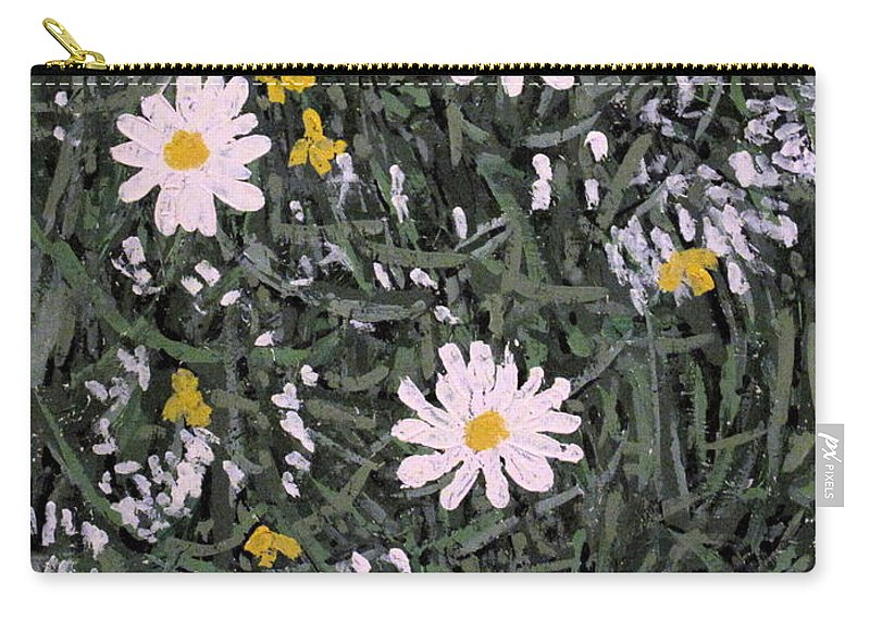 Daisies Carry-all Pouch featuring the painting Field Daisies by Ian MacDonald