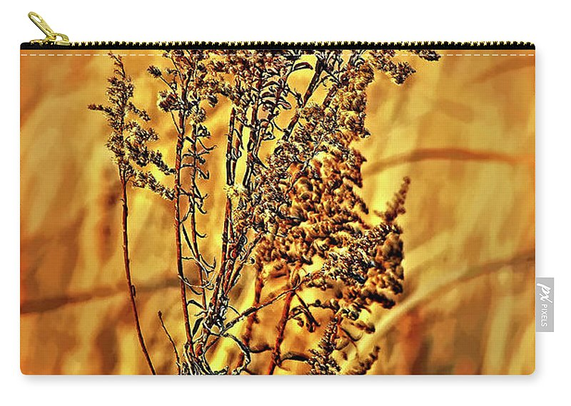 Weed Carry-all Pouch featuring the photograph Field Frolic by Steve Harrington
