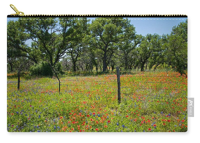 Fire Carry-all Pouch featuring the photograph Field Of Fire by Lynn Bauer