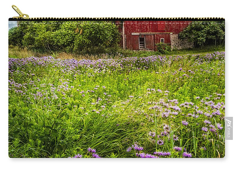 Appalachia Carry-all Pouch featuring the photograph Field Of Flowers by Debra and Dave Vanderlaan