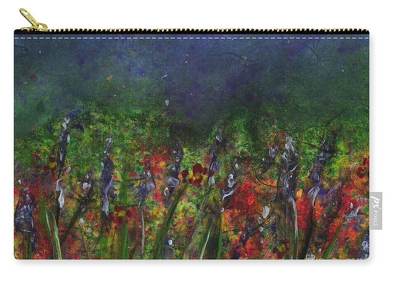Flowers Carry-all Pouch featuring the painting Field Of Flowers by Lynn Quinn