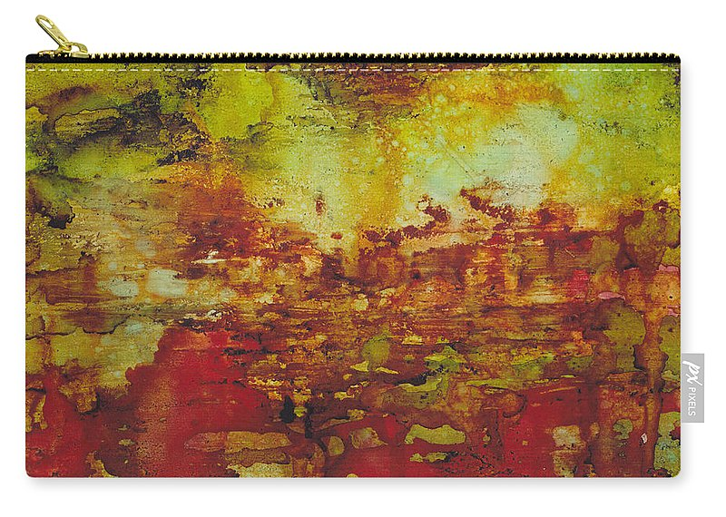 Art Carry-all Pouch featuring the painting Field Of Flowers Under The Dew by Louise Lamirande