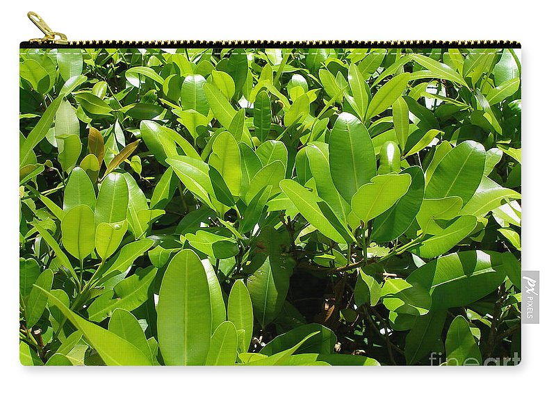 Shrub Carry-all Pouch featuring the photograph Field Of Green by Maria Bonnier-Perez