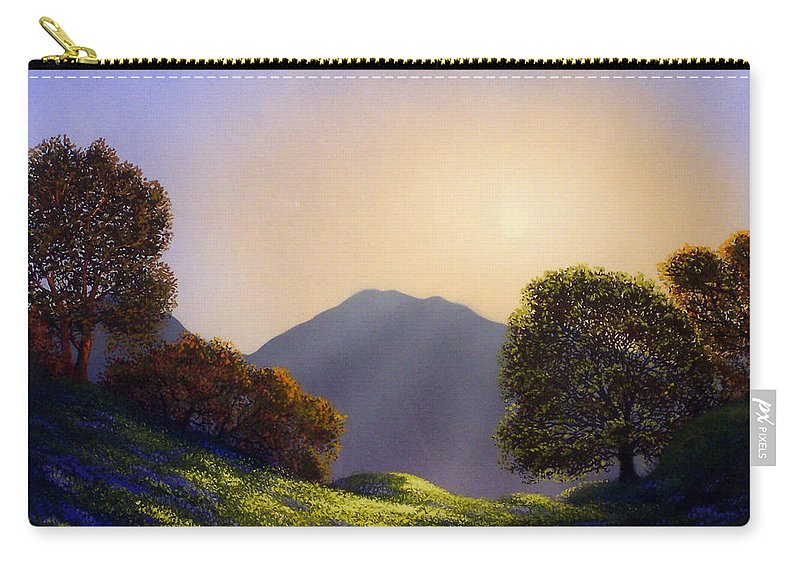 Landscape Carry-all Pouch featuring the painting Field Of Wildflowers by Frank Wilson