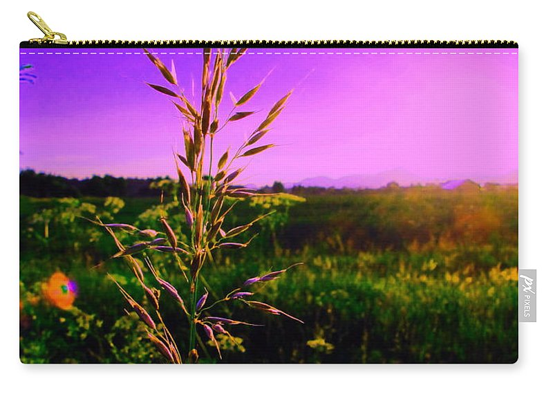 Field Rye And Ear Carry-all Pouch featuring the photograph Field Rye And Ear by Petra Olsakova