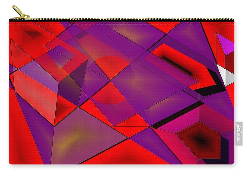 Fields Carry-all Pouch featuring the digital art Fieldexperiments by Helmut Rottler