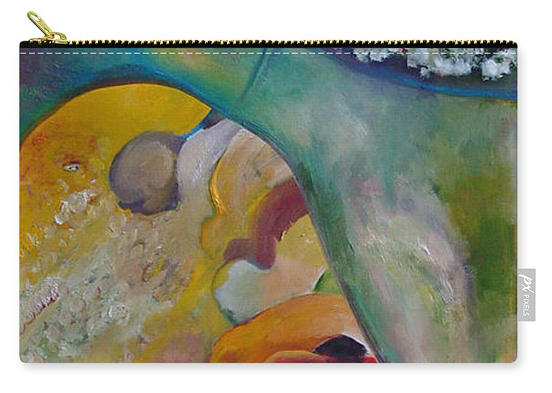 Cotton Carry-all Pouch featuring the painting Fields Of Cotton by Peggy Blood