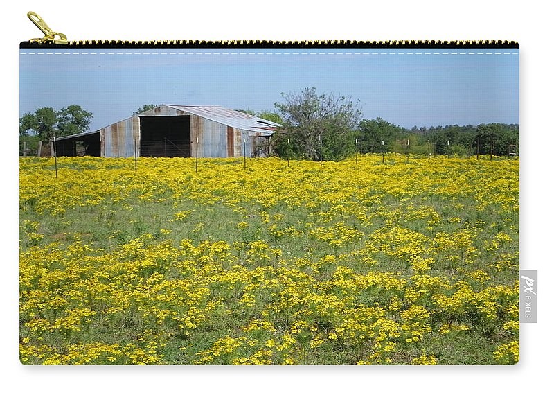Yellow Carry-all Pouch featuring the photograph Fields Of Gold by Gale Cochran-Smith