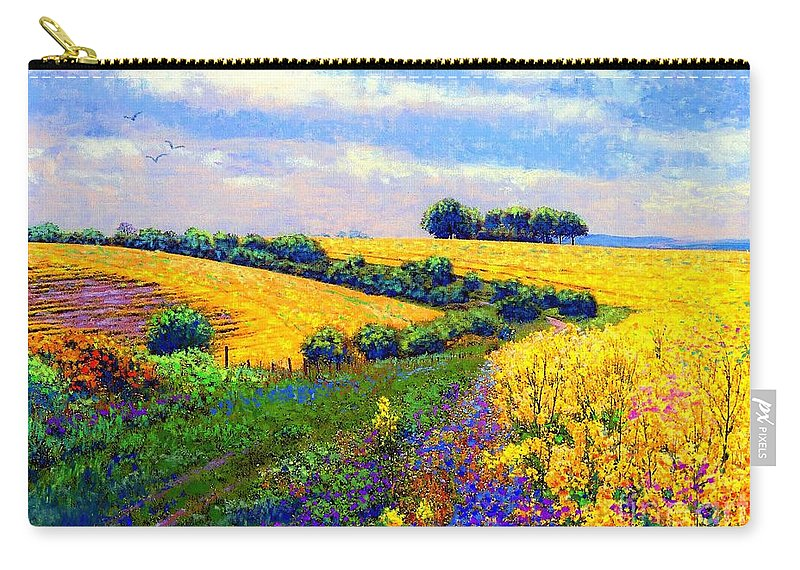 Sun Carry-all Pouch featuring the painting Fields Of Gold by Jane Small