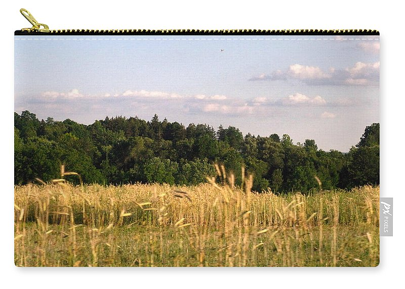 Field Carry-all Pouch featuring the photograph Fields of Grain by Rhonda Barrett