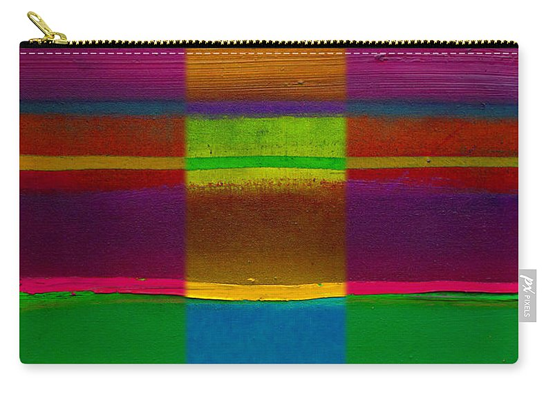 Landscape Carry-all Pouch featuring the painting Fields Of Green by Charles Stuart