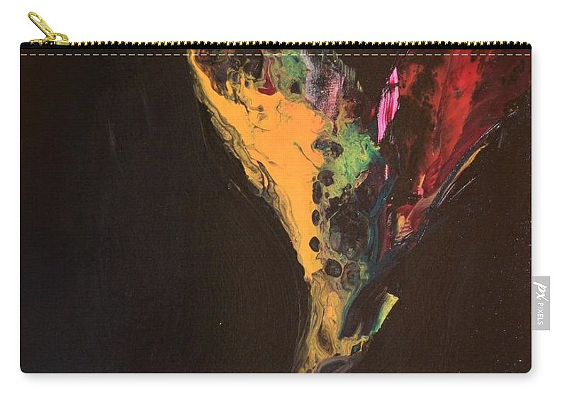 Art Nouveau Carry-all Pouch featuring the painting Fiery Escape by Maria Isabel Storniolo