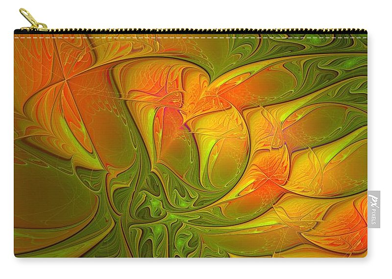 Digital Art Carry-all Pouch featuring the digital art Fiery Glow by Amanda Moore