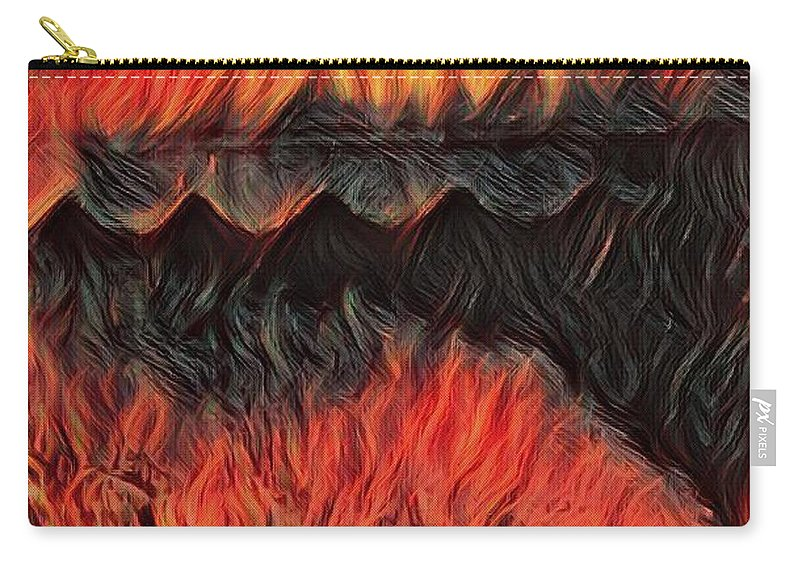 A Hot Valley Of Flames Carry-all Pouch featuring the photograph A Hot Valley Of Flames by Brenae Cochran